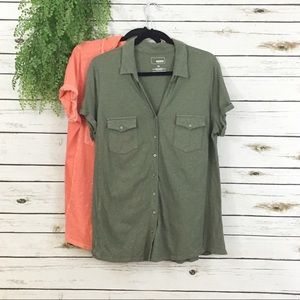 Sonoma button down shirts lot XL coral olive
